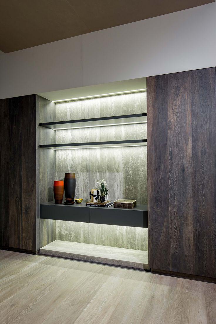 SALONE DEL MOBILE: Florim @ Hall 24 | Stand D14-D18 #salonedelmobile #milan #shelves #magnum #slabs #porcelain #travertini #madeinitaly #home #decoration
