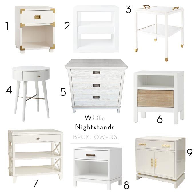 I love using crisp, white nightstands in my designs. They instantly give a…