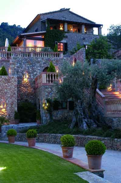 Valldemossa. Hotel and restaurant in the mountains. Spain, Valldemossa.