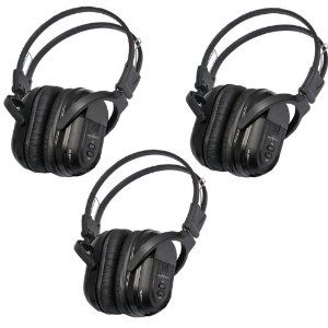 3 Pack of Two Channel Folding Universal Rear Entertainment System Infrared Headphones Wireless IR DVD Player Head Phones for in Car TV Video Audio Listening by Melodeez. $62.99. You will receive 3 wireless headphones. Enjoy music, movies and more! With these wireless infrared folding headphones. Automotive Grade IR Headphones: Will work on any vehicle that uses infrared headphones. No programming required! Simply turn on the headphones and they will connect to your vehicles...