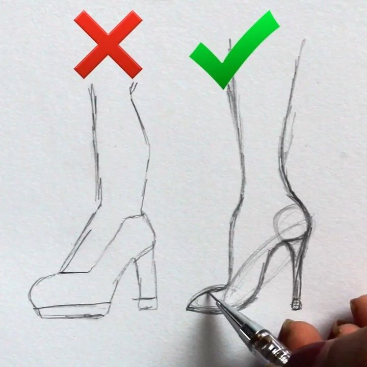 ♥️Comment many words starting with S (1 per comment) + win a STORY SHOUTOUT!SAVE THIS// a simple tip to draw heels • ♥️ Connect with me:…
