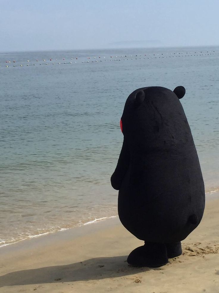 Kumamon at the Beach
