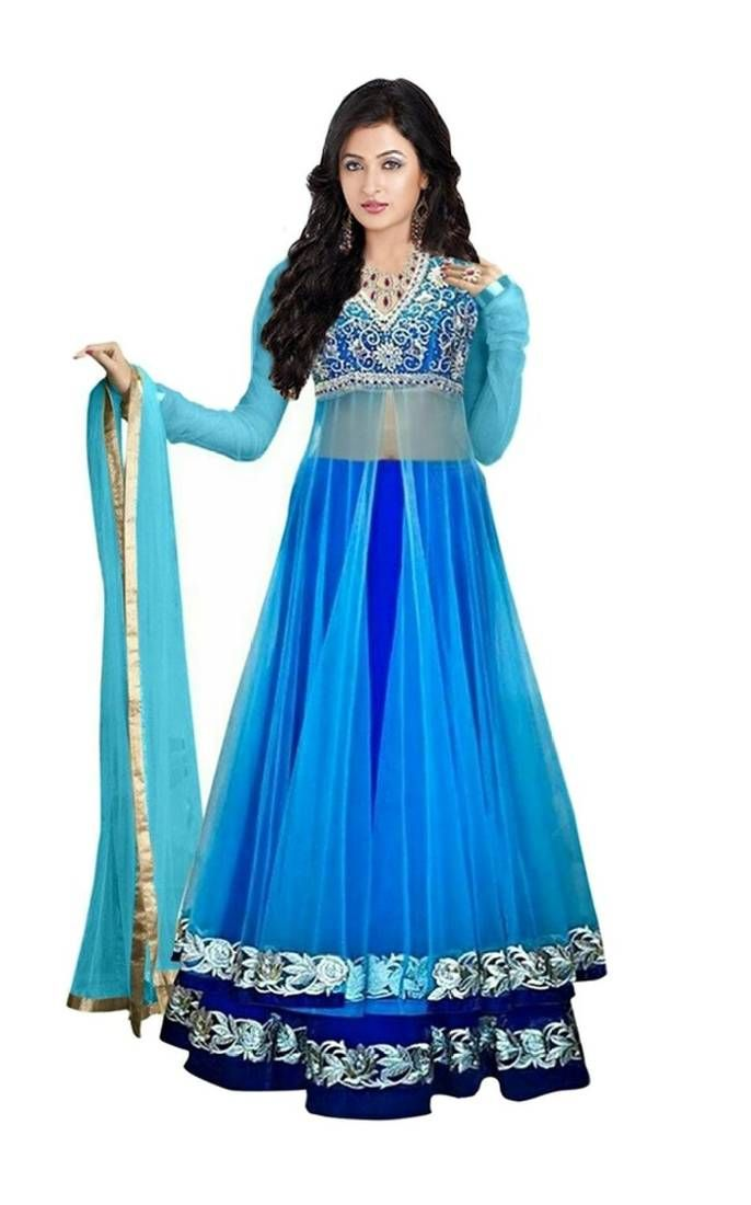 Get Blue Lehenga online from Mirraw.