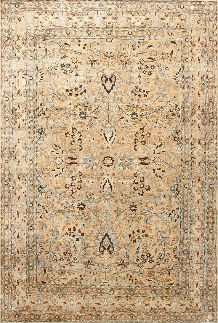Polonaise antique oriental rugs - Large Scale Antique Persian Khorassan Rug 48298