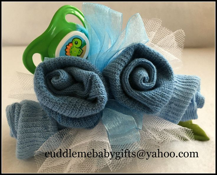 Baby Shower Baby Baby Shower Baby Sock Corsage with Pacifier by CuddleMeBabyGifts on Etsy @etsy @babiesrus @huggies