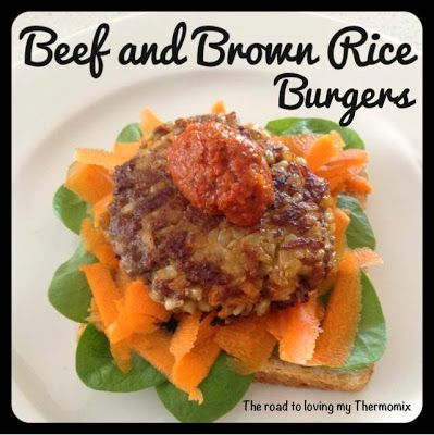 Beef and brown rice burgers