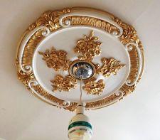 Techo Rosa Dorado Blanco medallón recargado Hogar Decoración Victoriana…                                                                                                                                                                                 Más