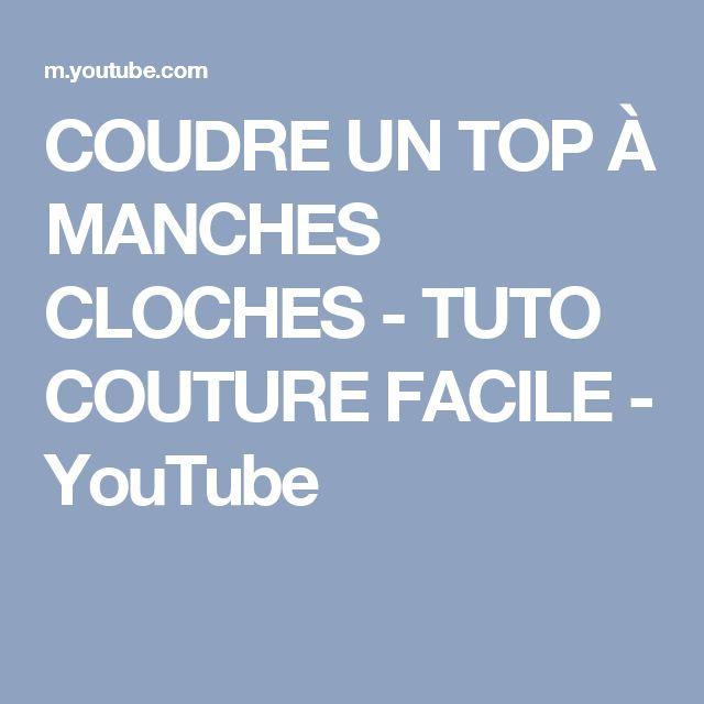 COUDRE UN TOP À MANCHES CLOCHES - TUTO COUTURE FACILE - YouTube