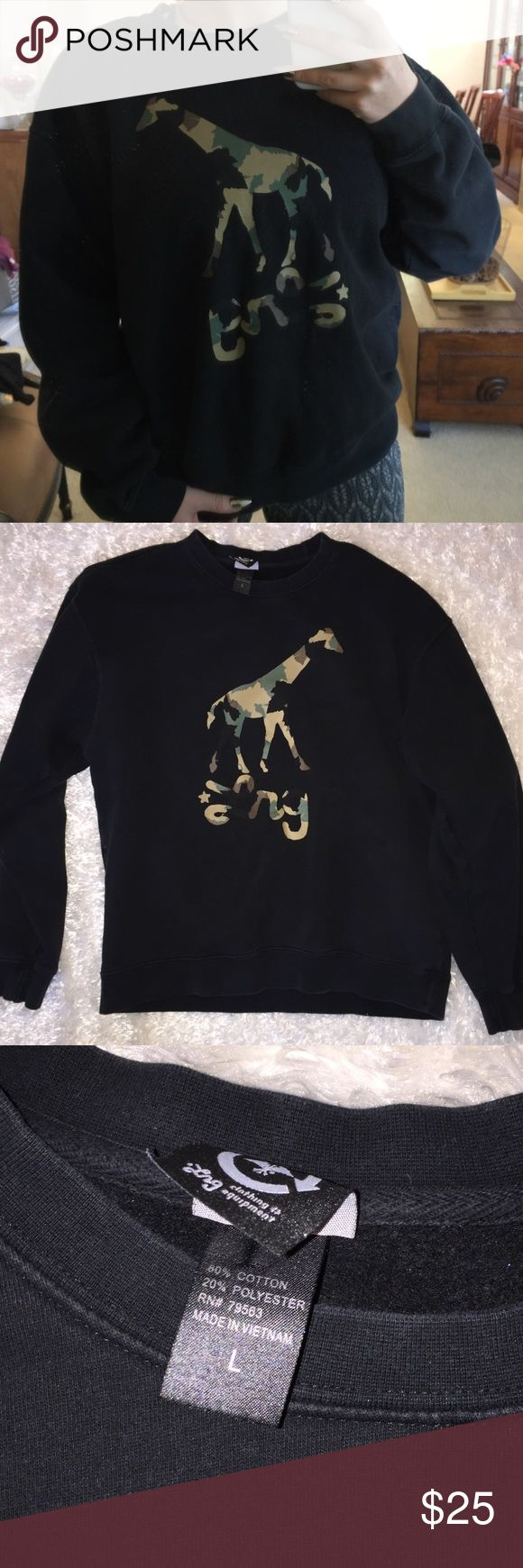 LRG Camo Design Crewneck In great condition! Size large. Perfect pullover for fall ☺️ Lrg Shirts Sweatshirts & Hoodies
