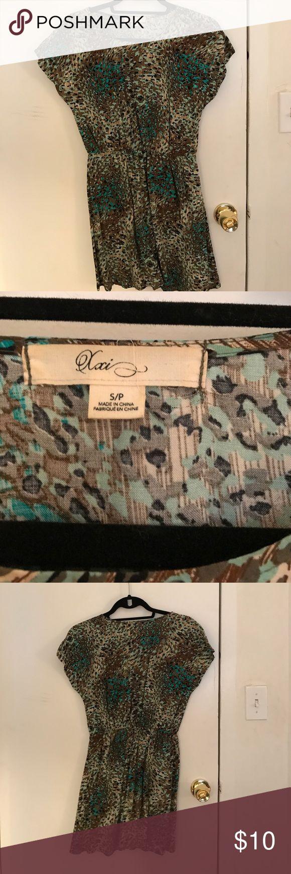 Animal print mini dress Short, easy, loose fitting dress Forever 21 Dresses Mini