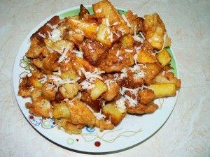 Τραγανές πατάτες με κρούστα