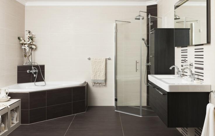 Hoekbad met douche nieuw huisje pinterest met - Badkamer lay outs met douche ...