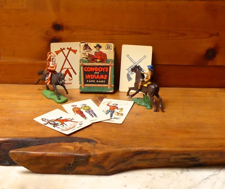 Vintage 1949 'Cowboys and Indians' Childrens Card Game by JessaBellas on Etsy