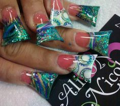 The Art of Nailz: Why Your Nail-lady Won't Do Flare Nails - Nails by Allison Nicole - hey anyone who can do these and MAKE you love them, is a rock star! Allison is awesome, no? :)
