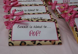 The cutest baby shower favor! And it's leopard!!!!!! Perfection!