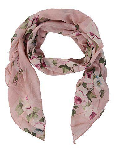 13d7677c19d5b0 Zwillingsherz Seiden-Tuch Damen Blumen Muster - Made in Italy - Eleganter  Sommer-Schal