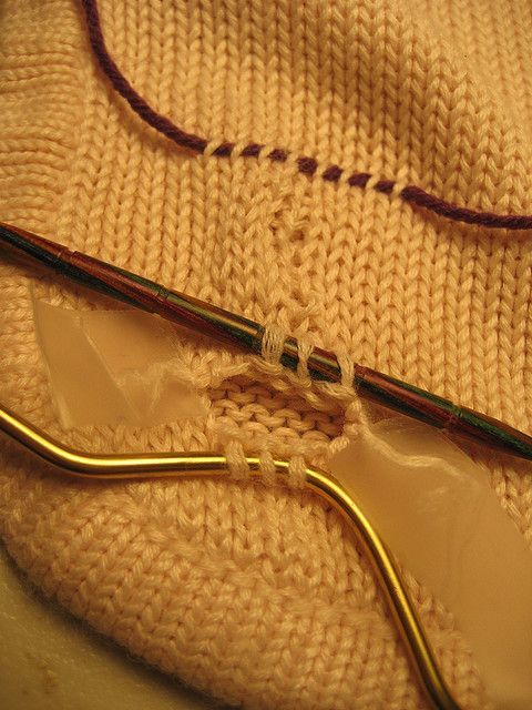 How-to repair a knitted garment