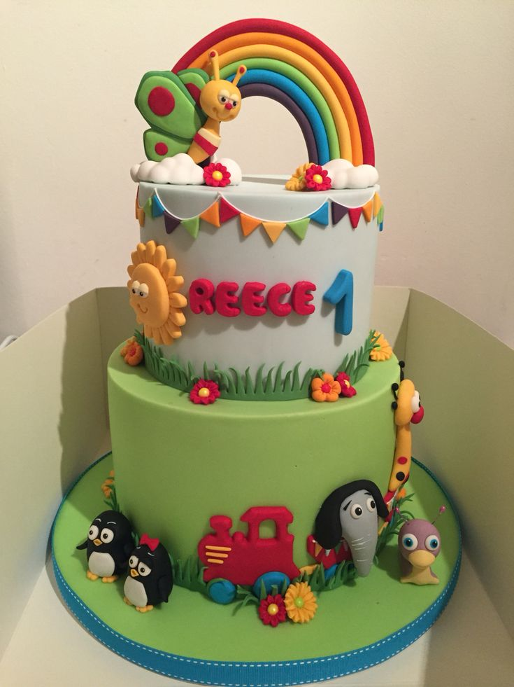 Baby TV theme birthday cake! Made by Shereen's cakes and bakes on Facebook...amazing