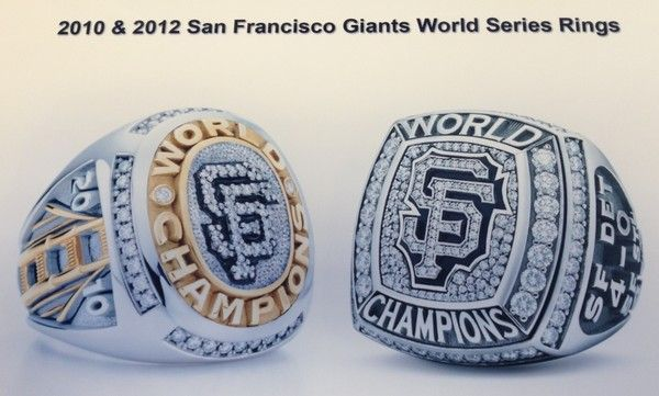 sf giants 2010 & 2012 world series ring