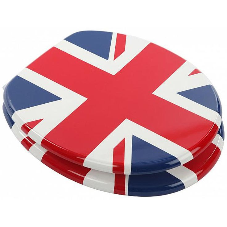 Astini Union Jack MDF printed Veneer Toilet Seat With Chrome Metal Hinges (now £26.99 saving £10.00)