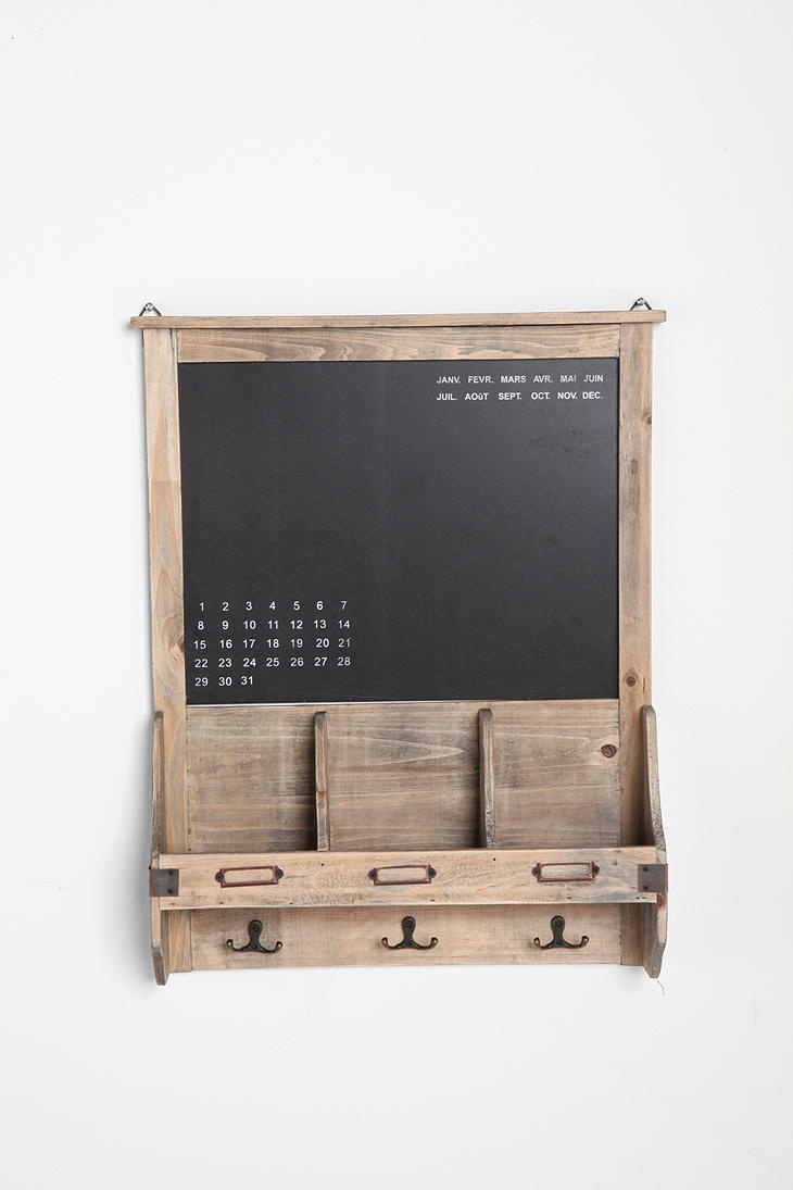Dry Erase Calendar And Cork Board : Reclaimed wood chalkboard urban outfitters calendar and