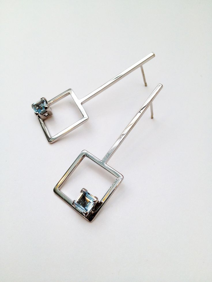 Sterling Silver and Topaz Earrings - Aimee L.B Jewellery