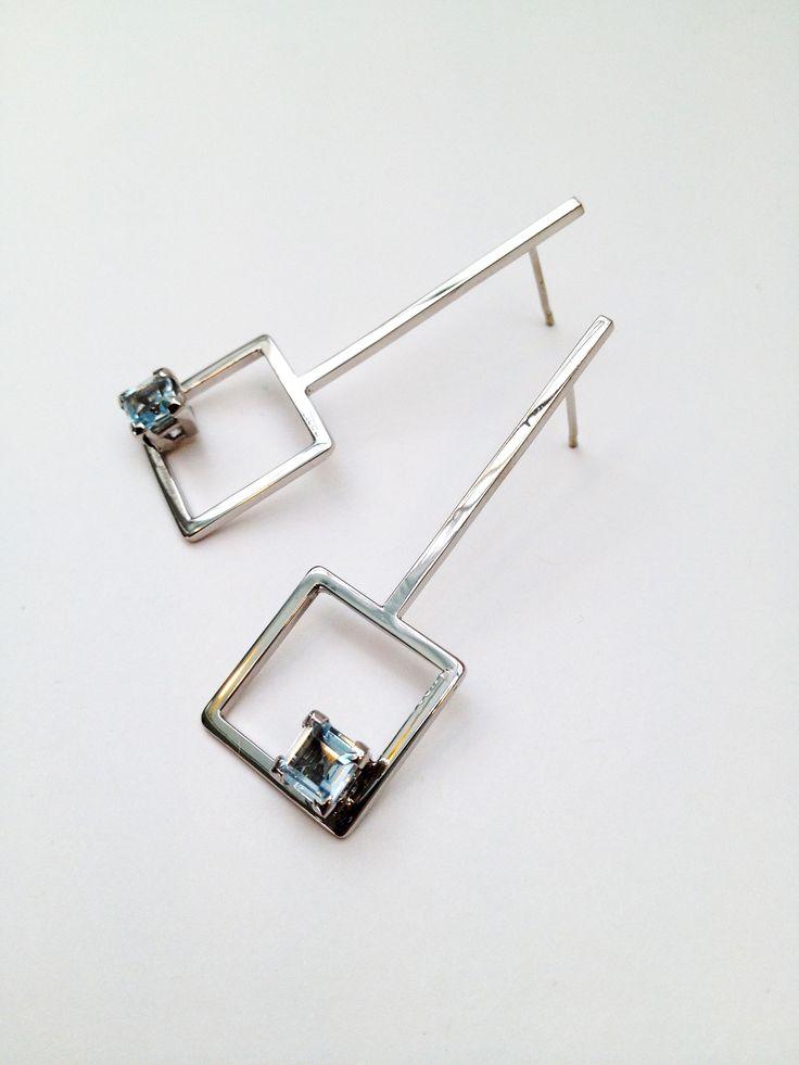 Sterling Silver and Topaz Earrings - Aimee L.B Jewellery