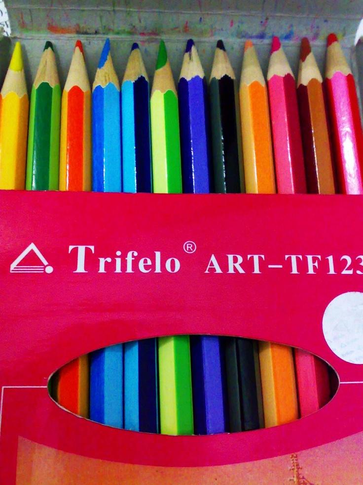 My TRIFELO 12 classic colour pencils