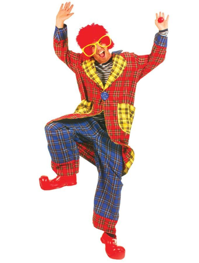 Nice Costumes Plaid pickles adult clown costume just added...