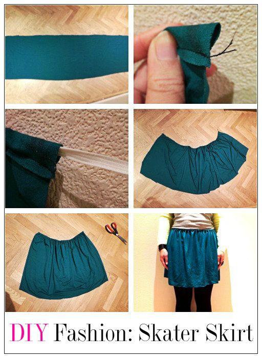 TUTORIAL   DIY Fashion: Skater Skirt diy-fashion-tutorial ...