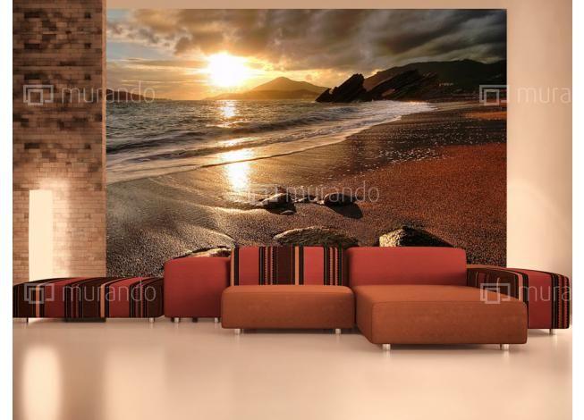 Západ slunce nad mořem #fototapety #domedesign
