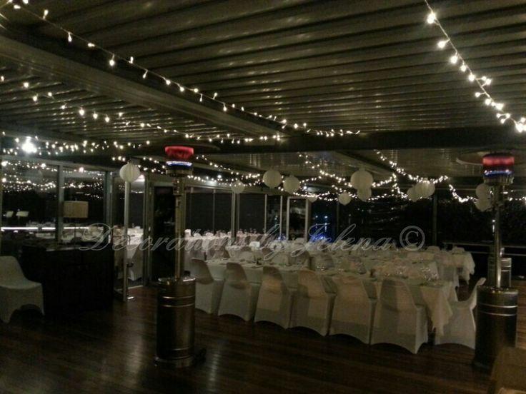 Twinkling lights! Fairy lights for wedding reception lighting