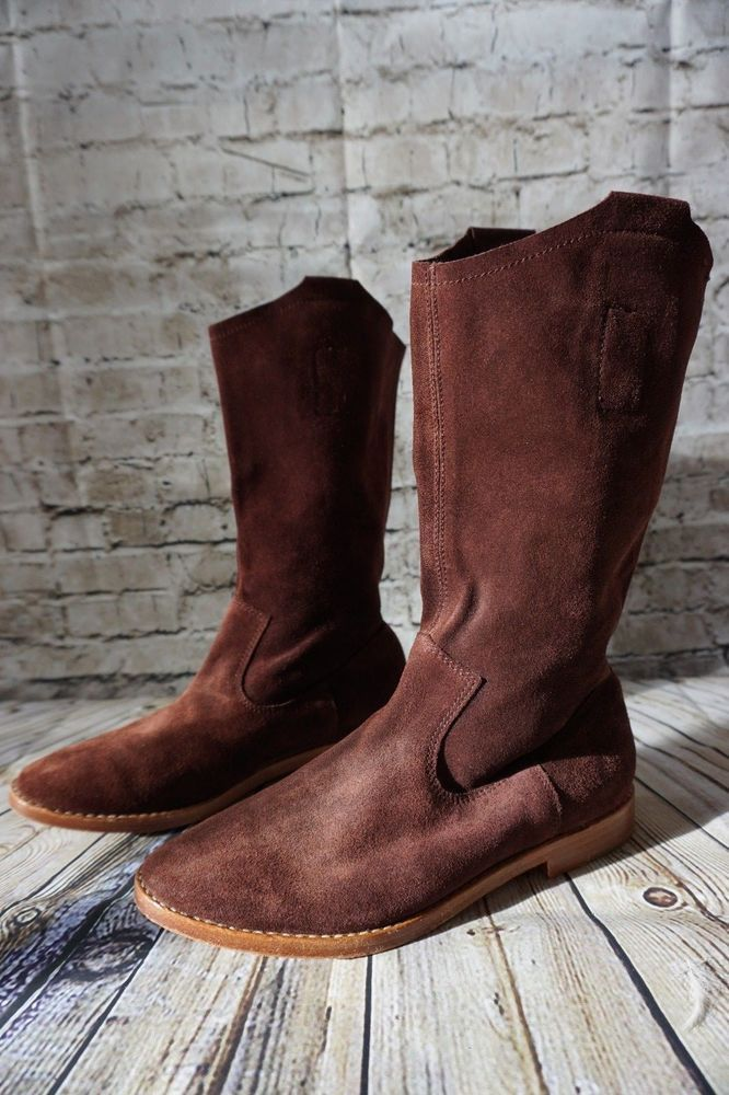 Joie Chestnut Brown Suede Leather Boots Women's Size 36 #JOIE #SlouchBoots #Casual