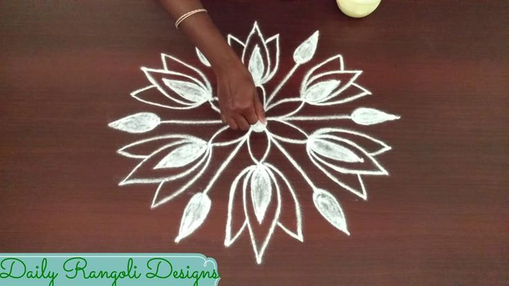 latest rangoli designs with 5 dots | muggulu  | Simple New year rangoli ...