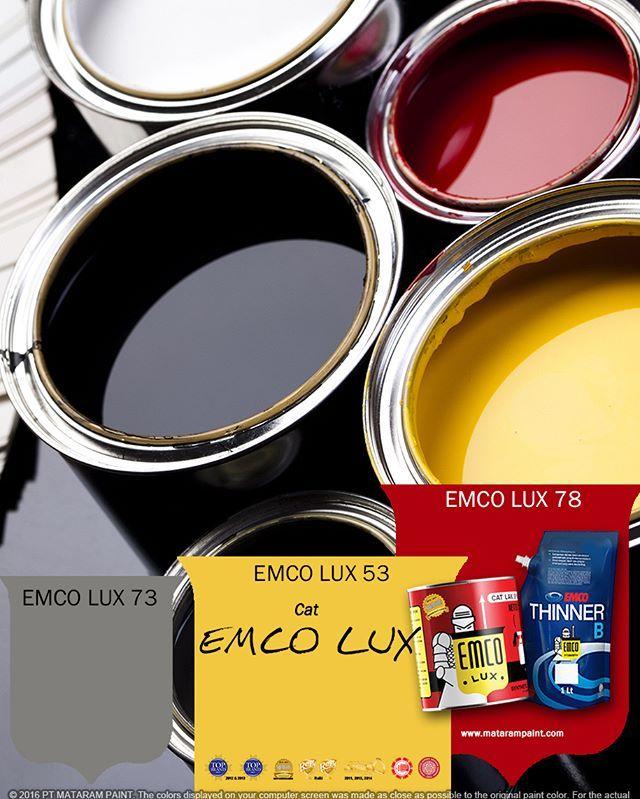 EMCO LUX terbukti sebagai cat terbaik di tipe cat kayu dan besi. Formula alkyd kualitas tinggi, resin, dan pigmen tahan lama, memberikan warna cerah yang tahan cuaca. EMCO LUX Cat Kayu dan Besi memiliki daya sebar prima, menghemat waktu dan biaya.  EMCO LUX tampil lebih memuaskan bila dengan produk MATARAM PAINT lainnya. EMCO Primer Kayu & Besi menutup bidang permukaan dari uap air, cairan, atau korosi; EMCO Thinner B meningkatkan daya tempel partikel cat pada bidang dan membuat cat tahan…