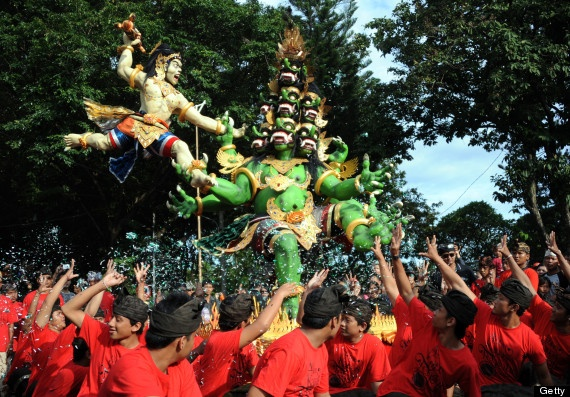 Parading 'Ogoh-ogoh', #Bali, #Indonesia.