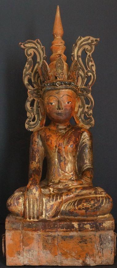 MYANMAR Burmese Shan Tai Yai King Buddha Statue 18th Century...replica of this statue at Spirithouse Import Gallery!