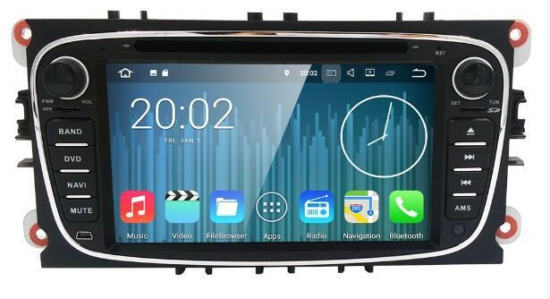 2 Din Android 7.1 4 Core Car DVD Player For FORD Mondeo S-MAX Connect FOCUS 2 2008-2011 With Radio GPS 4G LTE Network DVR DAB SD