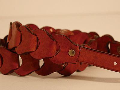 Cinturón cuero de cadena #Cuero #Leather #cinturon