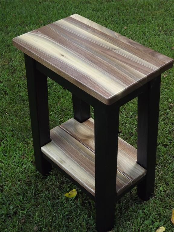 Reclaimed Wood/ Black Walnut/ Modern/ Contemporary/ Small /side Table/ Night