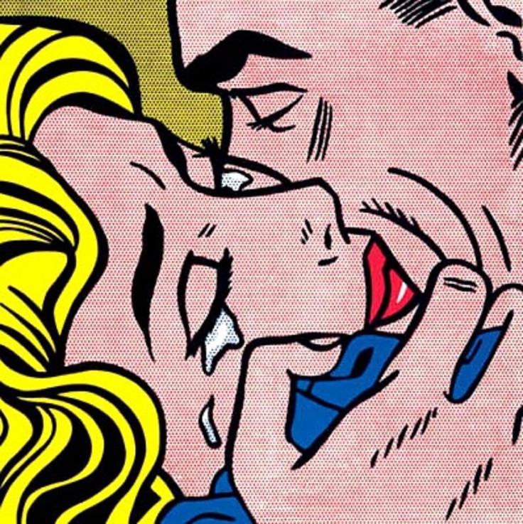 'Kiss V' Roy Lichtenstein