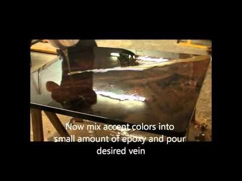 Comment ajouter des couleurs d'accent pour le faire vous-même les comptoirs époxy pour le bricolage contre resurfaçage haut - YouTube