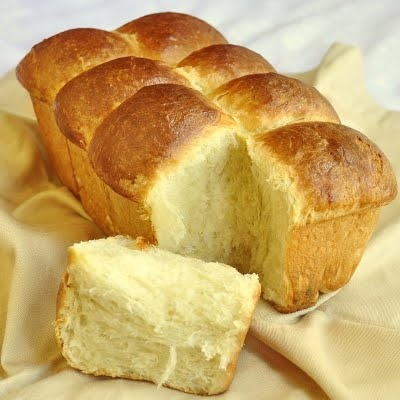 "Brioche recipe - ""Slightly sweet and made very rich with the inclusion of whole milk, eggs and plenty of dairy butter it is perfectly delicious to eat straight out of the oven but I also I use this great loaf for French toast or as the absolute best base for fantastic bread pudding."""