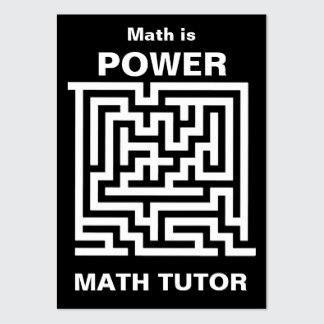 Business Cards » Math Tutor ... Math Is Power
