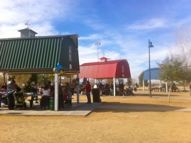 """Big """"barn"""" Themed Picnic Areas Are Perfect For Kids"""
