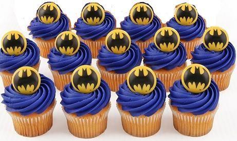 Batman Cup Cake Rings (12/pkg)