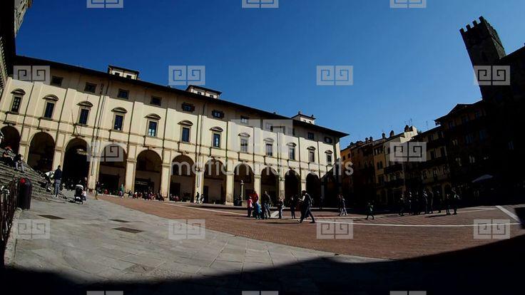 Arezzo Piazza Grande Stock Video Footage