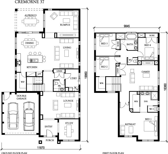 32 best House Plans images on Pinterest | House design, House ...