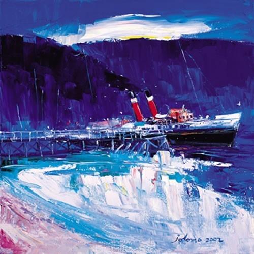 Art Prints Gallery - The Waverley at Tighnabruaich Pier, £30.00 (http://www.artprintsgallery.co.uk/John-Lowrie-Morrison/The-Waverley-at-Tighnabruaich-Pier.html)