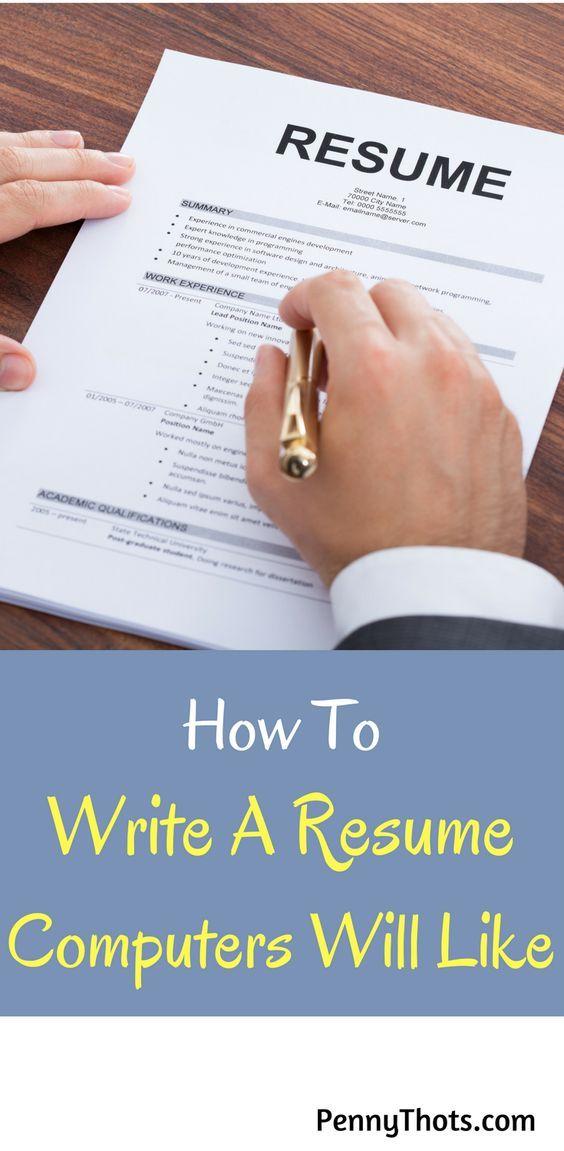 How To Write A Resume For Computers. Once I learned the tricks to write a smarter resume, I started getting callbacks for interviews. Thanks for these tips! via @jondulin